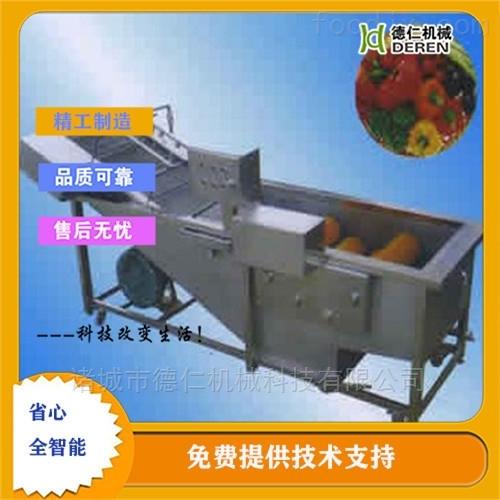 水果加工高压喷淋气泡清洗机