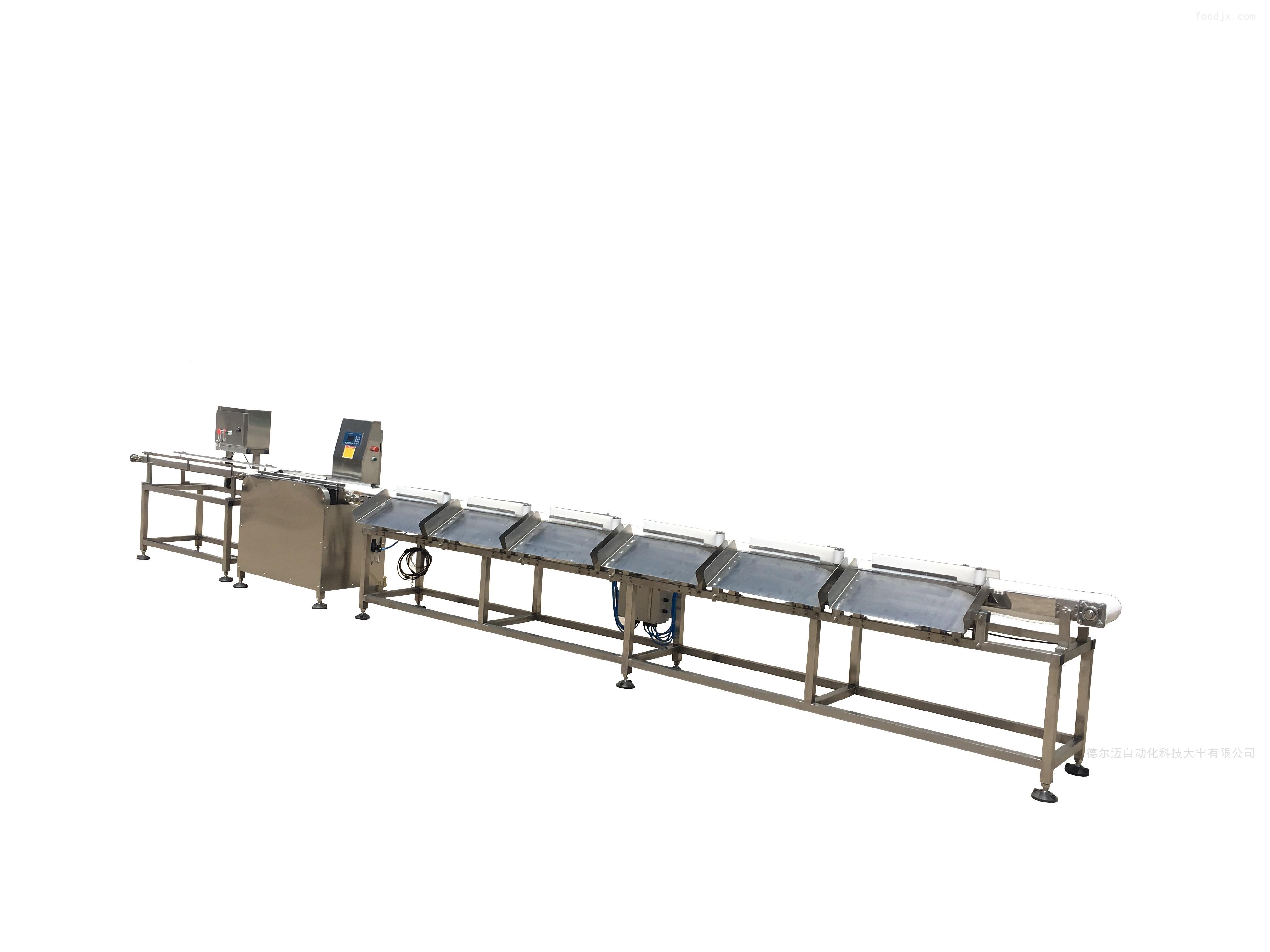 厂家定制在线称重香肠多级重量分选机