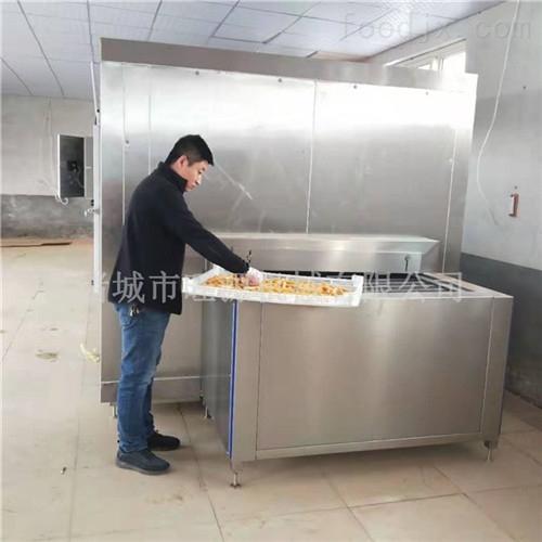直销蜜薯液氮急速速冻柜/冰薯链条式速冻机