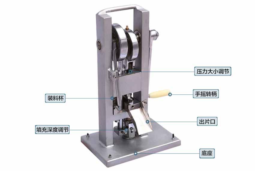 手摇单冲压片机结构