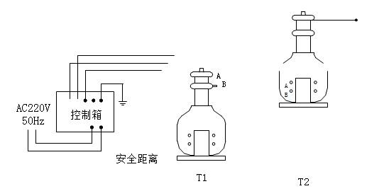 工频试验变压器联线方式示意图