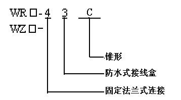 锥形管法兰连接热电偶(热电阻)型谱